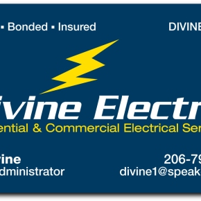 Business cards donovan design divine electric business cards identity colourmoves