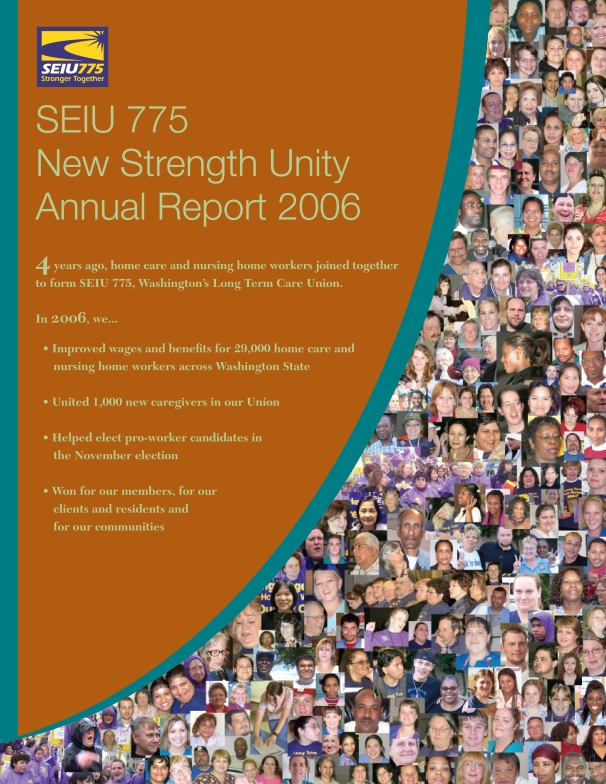 SEIU775 Annual Report (cover)
